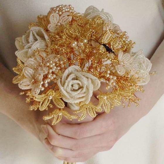 il bouquet della sposa, gioiello, colore oro 4