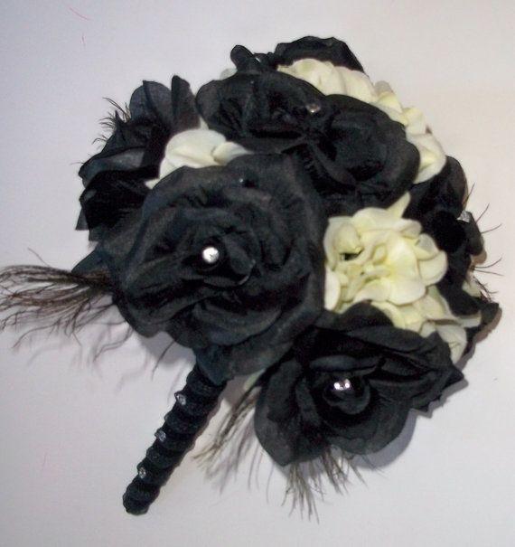 il bouquet della sposa, gioiello, colore nero