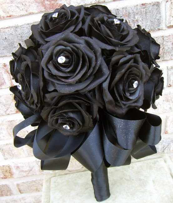il bouquet della sposa, gioiello, colore nero 1