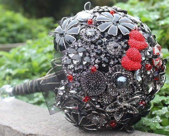 il bouquet della sposa, gioiello, colore nero 3