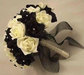 il bouquet della sposa, gioiello, colore nero 4