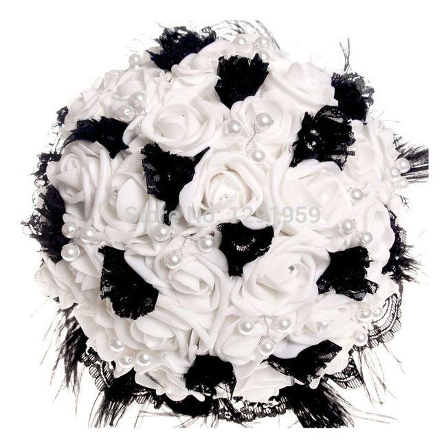 il bouquet della sposa, gioiello, colore nero 5