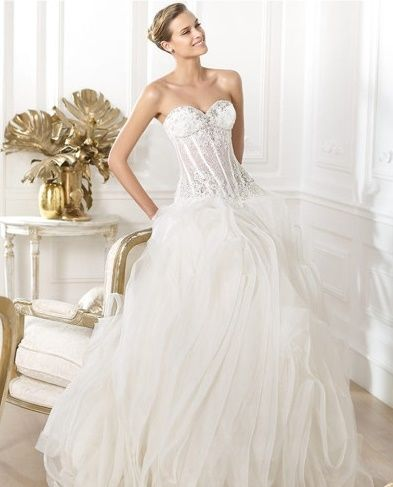 abito da sposa, stile bustier