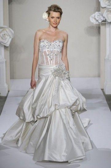 abito da sposa, stile bustier 2