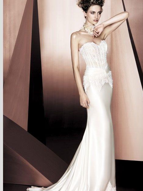 abito da sposa, stile bustier 4