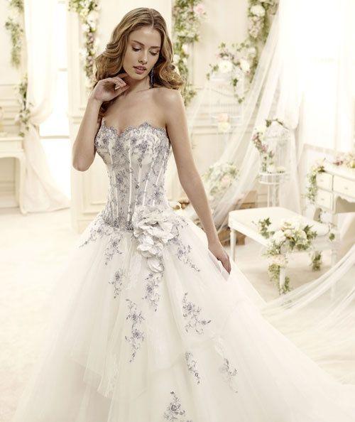 abito da sposa, stile bustier 5