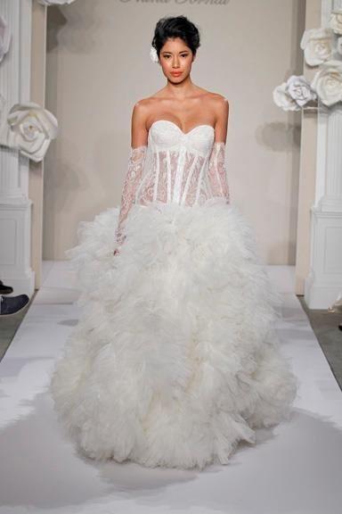 abito da sposa, stile bustier 8