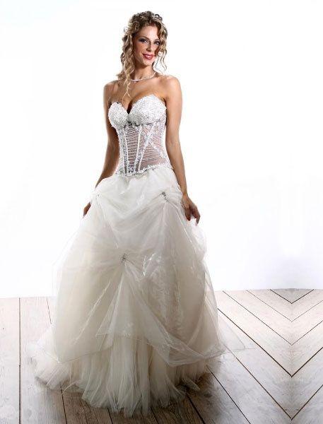 abito da sposa, stile bustier 11