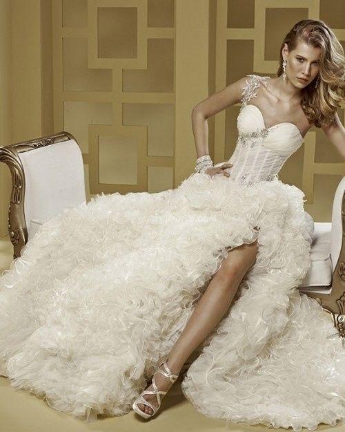 abito da sposa, stile bustier 13