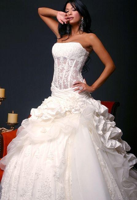 abito da sposa, stile bustier 12