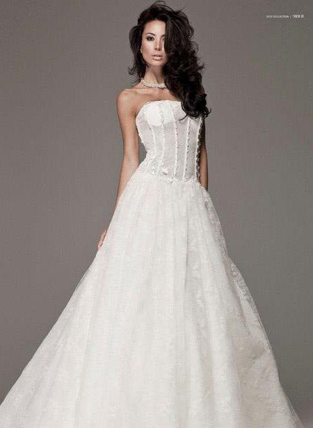 abito da sposa, stile bustier 14