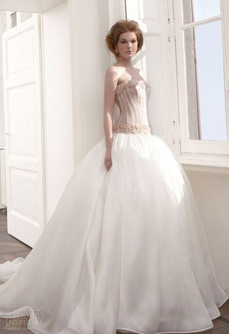 abito da sposa, stile bustier 15
