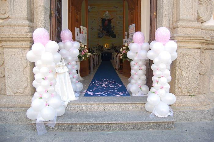 Decorazioni nuziali matrimonio palloncini chiesa foto for Decorazioni nuziali