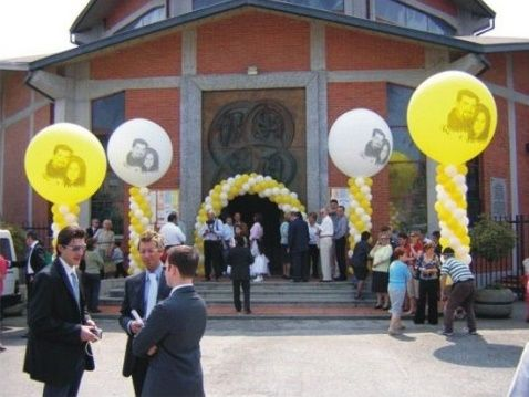 DECORAZIONI NUZIALI MATRIMONIO  palloncini , Chiesa 4