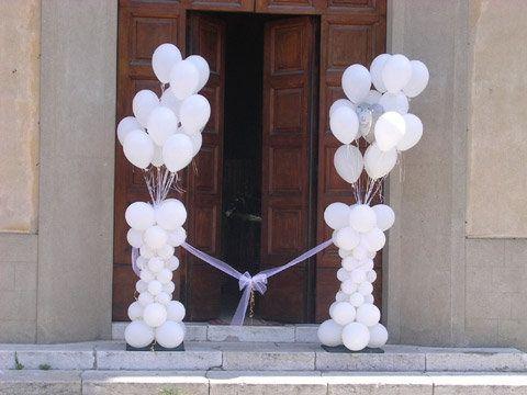 DECORAZIONI NUZIALI MATRIMONIO  palloncini , Chiesa 6