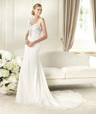 abito da sposa, stile sottoveste 6