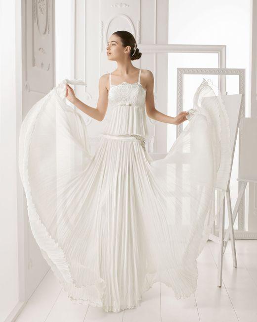 abito da sposa, stile sottoveste 7