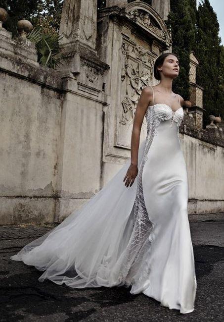 abito da sposa, stile sottoveste 9
