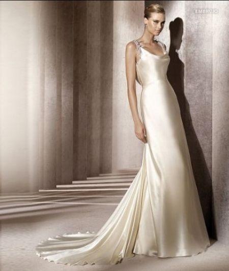 abito da sposa, stile sottoveste 10