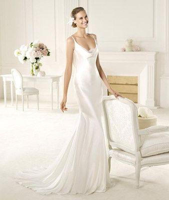 abito da sposa, stile sottoveste 14