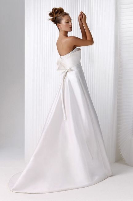 abito da sposa, stile redingote 9