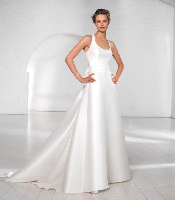 abito da sposa, stile redingote 17