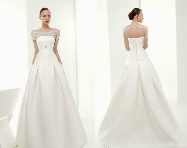 abito da sposa, stile redingote 20