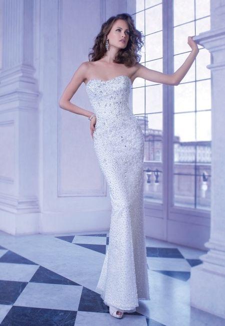 abito da sposa, stile tubino ,stile  colonna  2