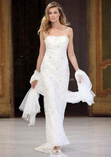 abito da sposa, stile tubino ,stile  colonna  4