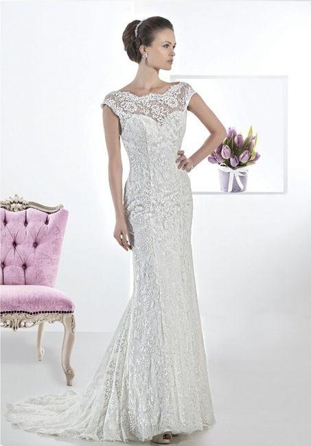 abito da sposa, stile tubino ,stile  colonna 5