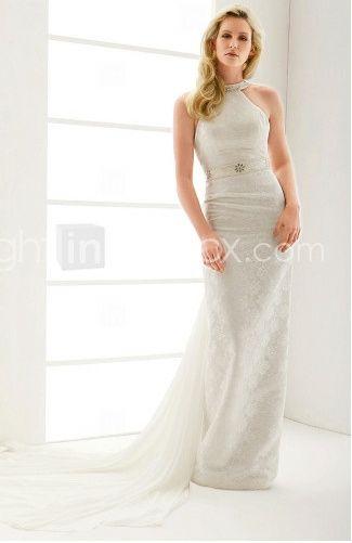 abito da sposa, stile tubino ,stile  colonna 6