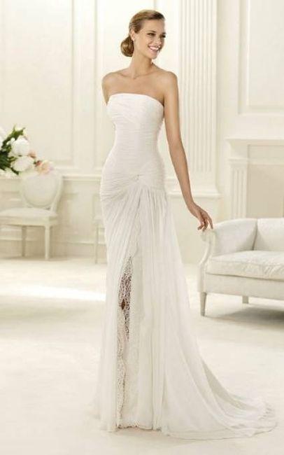 abito da sposa, stile tubino ,stile  colonna 10