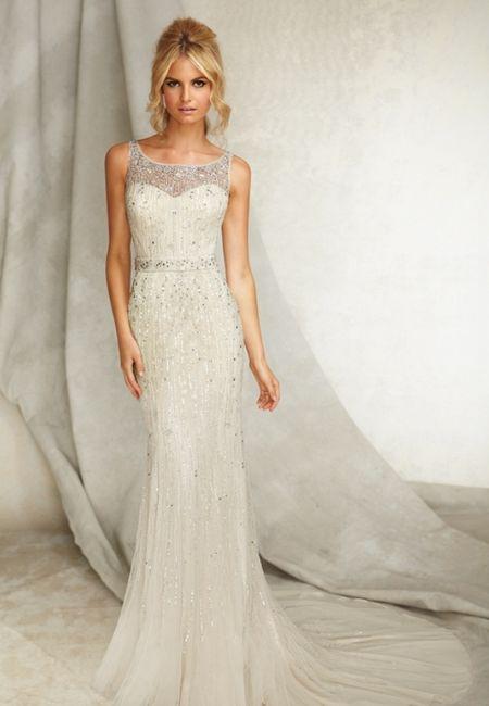 abito da sposa, stile tubino ,stile  colonna  11