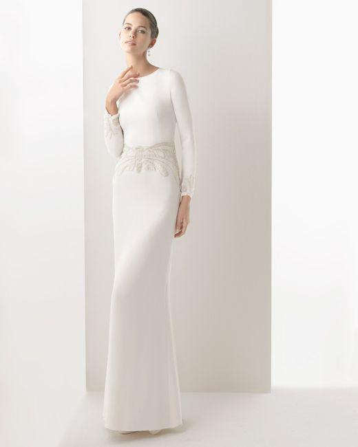 abito da sposa, stile tubino ,stile  colonna  13