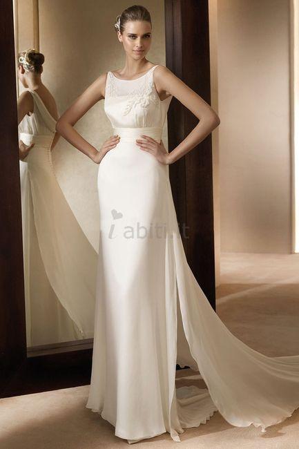 abito da sposa, stile tubino ,stile  colonna 14