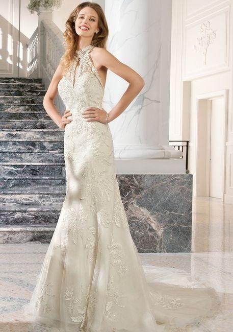 abito da sposa, stile tubino ,stile  colonna 15