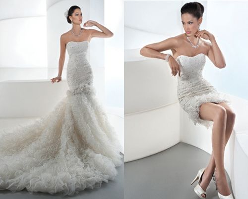 abito da sposa, stile dual dress