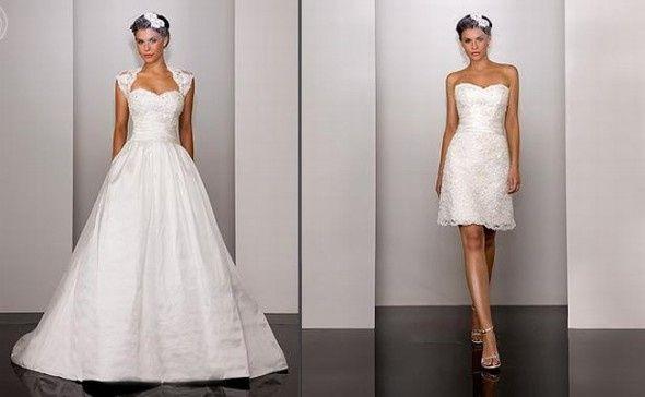 abito da sposa, stile dual dress 1