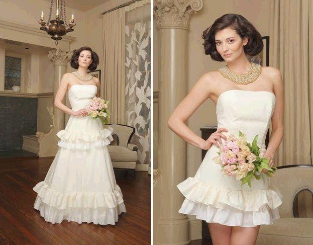 abito da sposa, stile dual dress 2