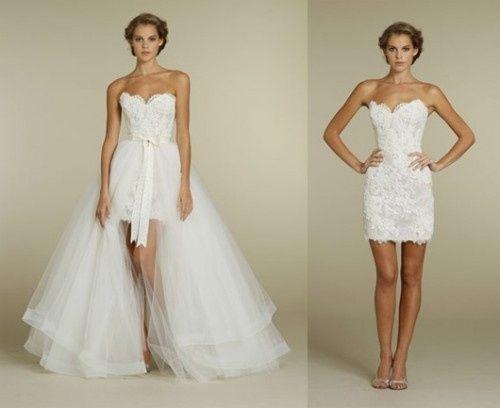 abito da sposa, stile dual dress 3