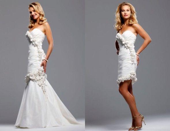 abito da sposa, stile dual dress 4