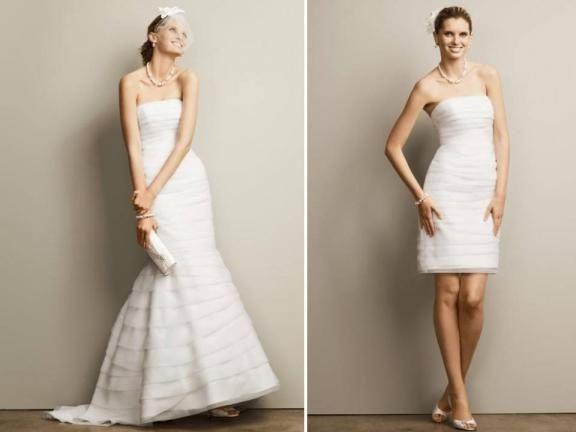 abito da sposa, stile dual dress 5