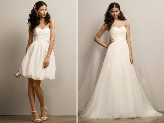 abito da sposa, stile dual dress 6