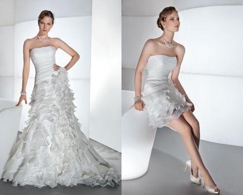abito da sposa, stile dual dress 7