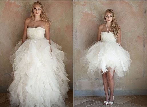 abito da sposa, stile dual dress 8