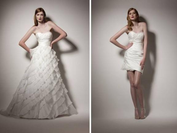 abito da sposa, stile dual dress 11