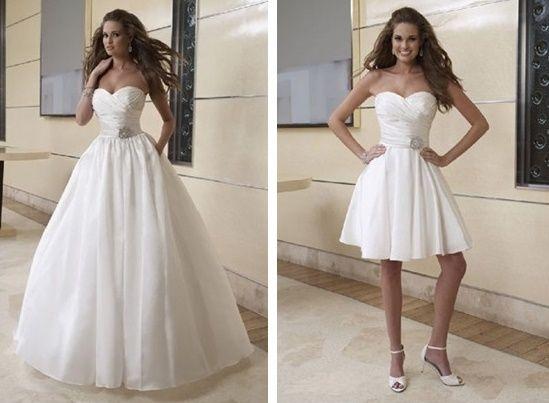 abito da sposa, stile dual dress 13