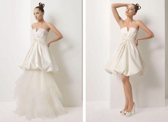 abito da sposa, stile dual dress 14
