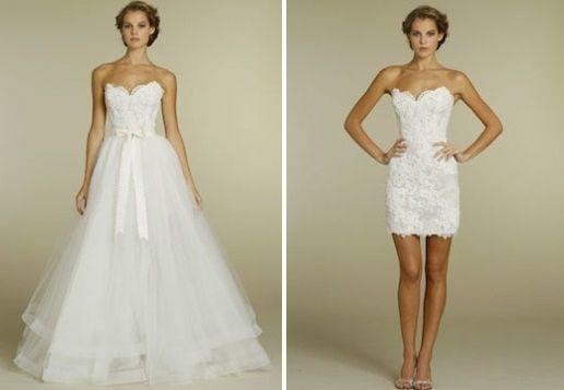 abito da sposa, stile dual dress 15