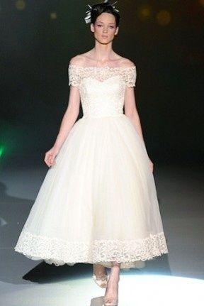 abito da sposa, stile longuette 7